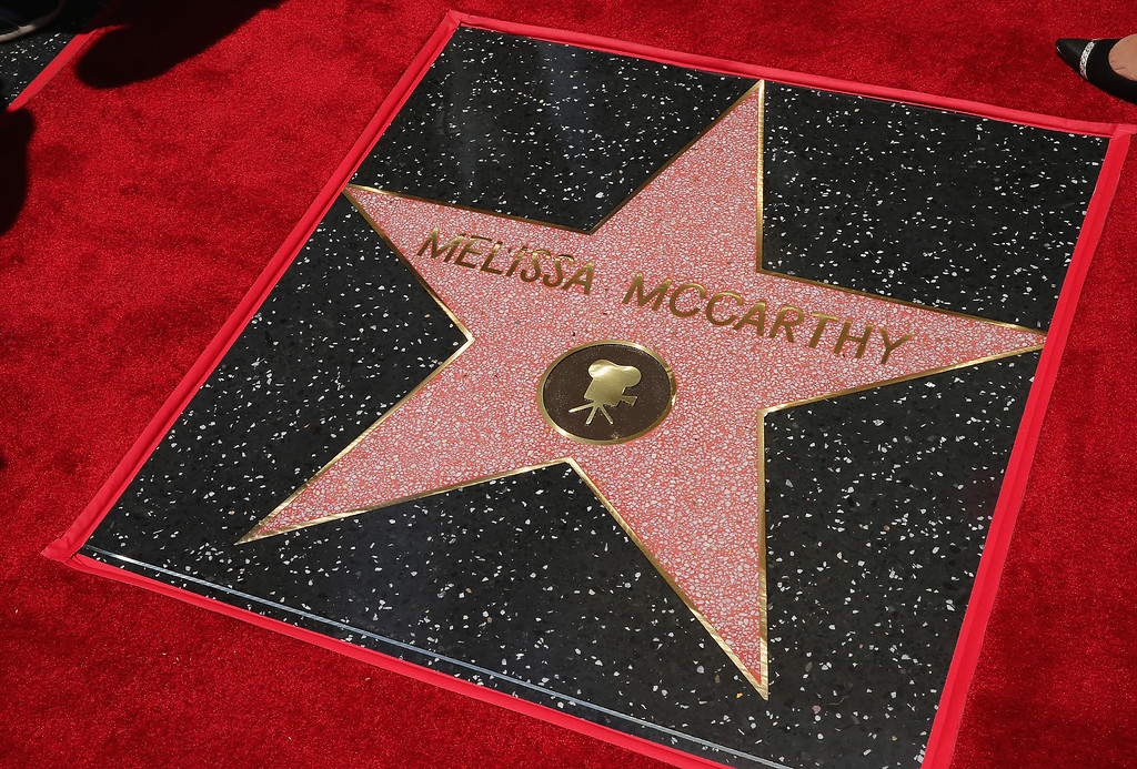 . Actress Melissa McCarthy\'s star is seen as she is honored with a star on the Hollywood Walk Of Fame on May 19, 2015 in Hollywood, California.  (Photo by Mark Davis/Getty Images)