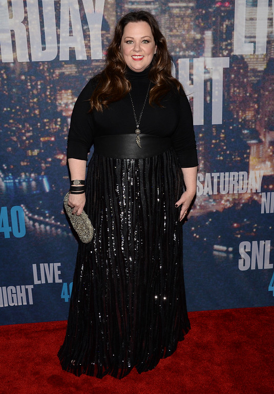 . Melissa McCarthy arrives at the Saturday Night Live 40th Anniversary Special at Rockefeller Plaza on Sunday, Feb. 15, 2015, in New York. (Photo by Evan Agostini/Invision/AP)