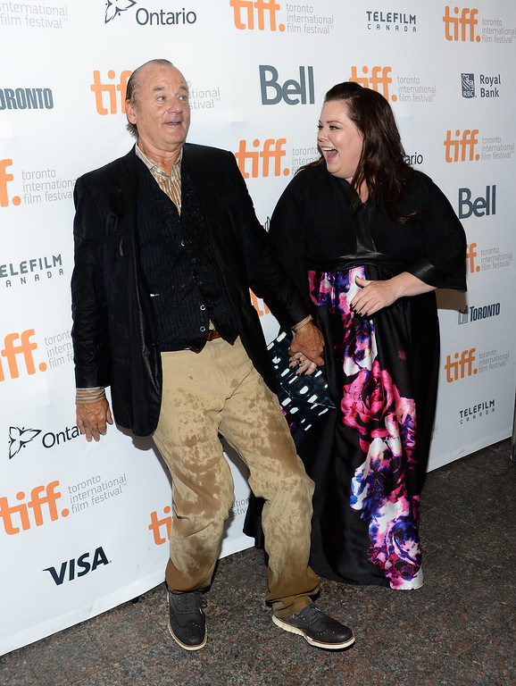 ". Actors Bill Murray and Melissa McCarthy arrive at the ""St. Vincent\"" premiere during the Toronto International Film Festival on Friday, Sept. 5, 2014, in Toronto. (Photo by Evan Agostini/Invision/AP)"