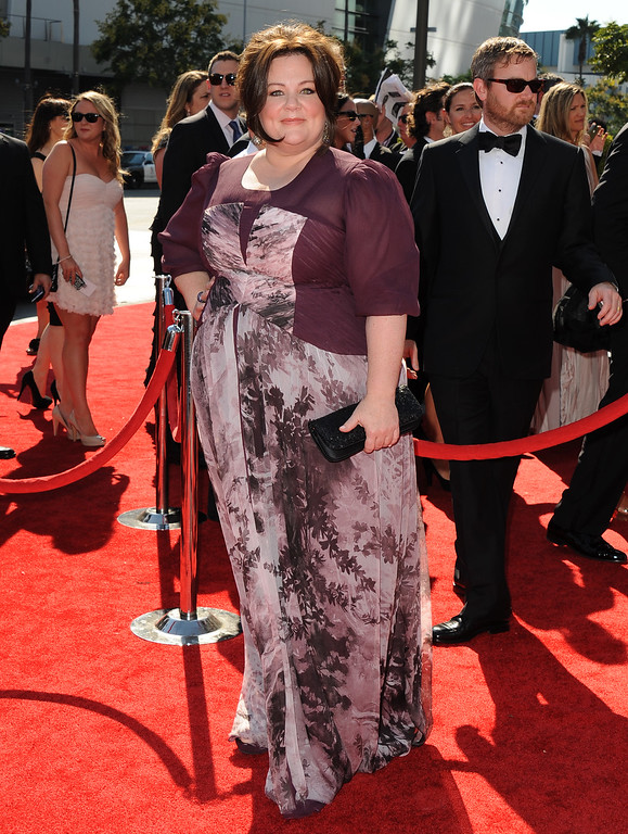 . Melissa McCarthy arrives at the Academy of Television Arts & Sciences 64th Primetime Creative Arts Emmy Awards at Nokia Theatre L.A. Live on September 15, 2012 in Los Angeles, California. (Photo by Scott Kirkland/Invision for the Academy of Television Arts & Sciences/AP Images)
