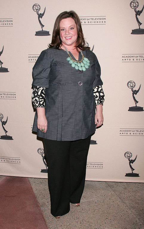 ". Actress Melissa McCarthy attends the Academy of Television Arts & Sciences\' An Evening with ""Samantha Who?\"" at the Leonard H. Goldenson Theatre on February 12, 2009 in North Hollywood, California.  (Photo by David Livingston/Getty Images)"