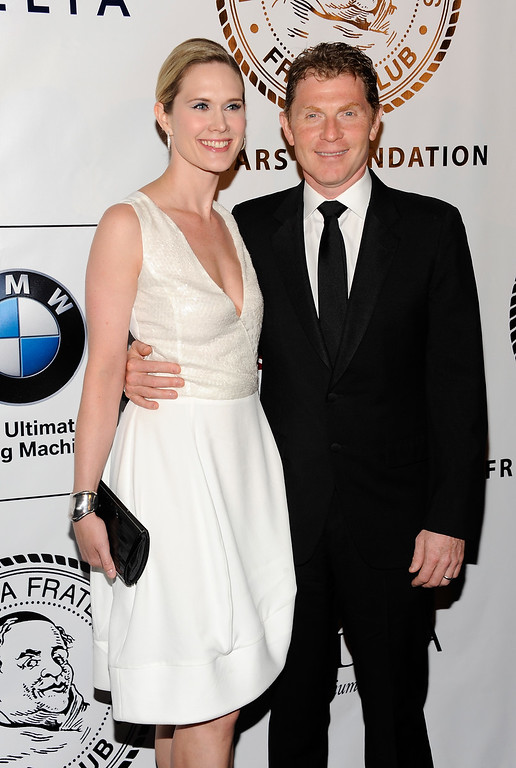 . Actress Stephanie March and chef Bobby Flay attend The Friars Club and Friars Foundation Honor of Tom Cruise at The Waldorf-Astoria on Tuesday June 12, 2012, in New York. (Photo by Evan Agostini/Invision/AP)