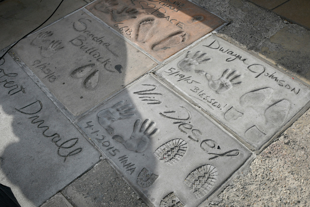 . A wide variety of actors have been immortalized in concrete infront of the TLC Chinese Theatre. Hollywood, CA. 5/17/2017 Photo by John McCoy/Los Angeles Daily News (SCNG)