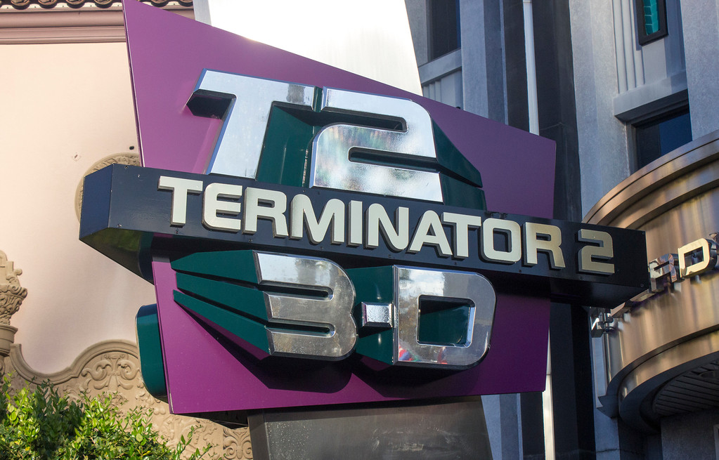 . Terminator 2 3-D is a multi-media attraction at the Universal Studios theme park in Orlando. The photographer helped to develop the concept for this attraction, which used to play at Universal Studios in Hollywood, but has since been replaced by the Despicable Me Minions Ride. (Photo by Mark Eades, Orange County Register/SCNG) Taken in Orlando at Universal Studios on Monday, January 16, 2017.