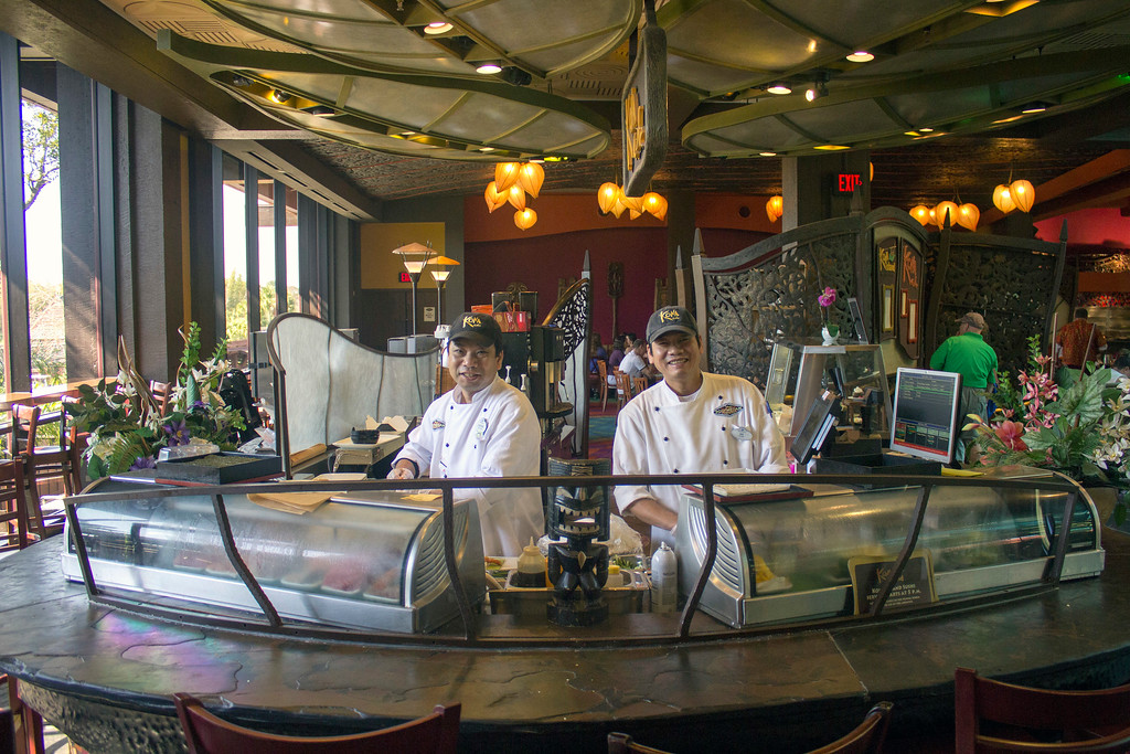. Sushi is on the menu at this Polynesian Village Resort Hotel restaurant at Walt Disney World.  (Photo by Mark Eades, Orange County Register/SCNG) Taken in Orlando at Walt Disney World on Saturday, January 21, 2017.