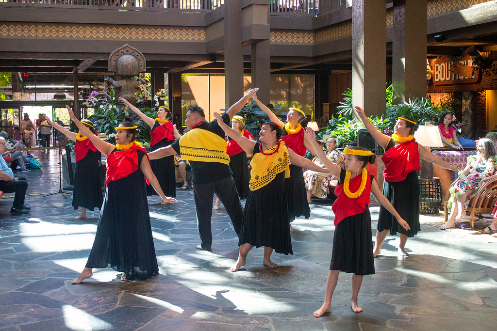 . Besides theme parks, visitors to Walt Disney World can find other things to do, like learning how to dance the Hula in the lobby of the Polynesian Village Resort hotel. (Photo by Mark Eades, Orange County Register/SCNG) Taken in Orlando at Walt Disney World on Saturday, January 21, 2017.