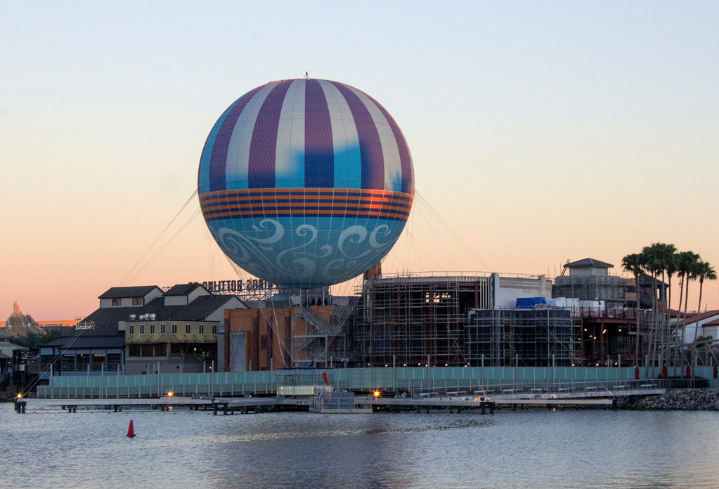. Disney Springs at Walt Disney World is a large shopping and dining complex. Visitors can also soar 400-feet into the air for a bird\'s eye view of the area in the balloon. (Photo by Mark Eades, Orange County Register/SCNG) Taken in Orlando at Walt Disney World on Tuesday, January 24, 2017.