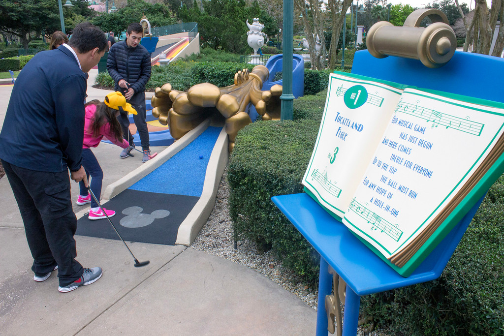 ". There are four miniature golf courses at Walt Disney World. One of the themes is based on the Disney animated movie ""Fantasia.\"" (Photo by Mark Eades, Orange County Register/SCNG) Taken in Orlando at Walt Disney World on Friday, January 27, 2017."