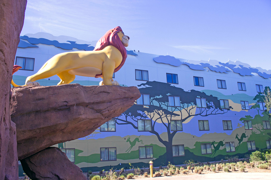 ". Many of the hotels at Walt Disney World are designed to be fun for the entire family. This is the Art of Animation Resort at Walt Disney World. It has several different wings with themes based on classic Disney or Pixar animated movies. This area is based on ""The Lion King.\"" (Photo by Mark Eades, Orange County Register/SCNG) Taken in Orlando at Walt Disney World on Wednesday, January 25, 2017."