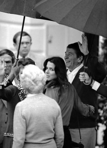 President Reagan and his youngest daughter Patti Davis