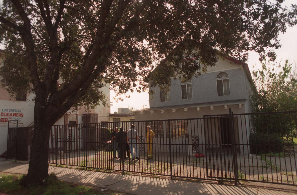 . An underground vault was found at this Pasadena home.  (Los Angeles Daily News file photo)