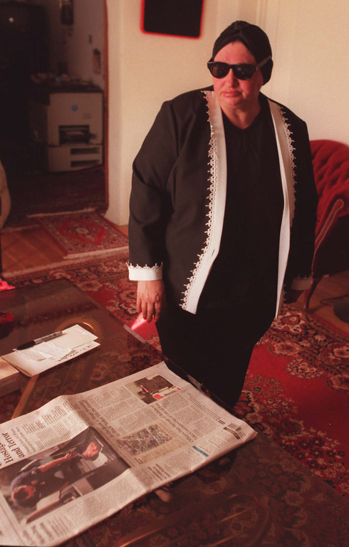 . Valerie Nicolescu, mother of Emil Dechebal Matasareanu, one of the suspects who was killed by police during shootout after botched robbery attempt of a Bank of America in North Hollywood on February 28, 1997.  (Photo by Hans Gutknecht/Los Angeles Daily News)