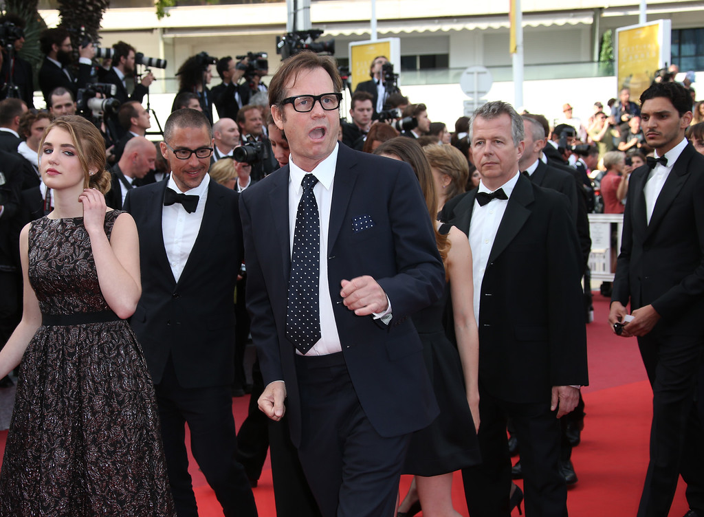 . Actor Bill Paxton, centre, poses for photographers upon arrival at the screening of the film Loving at the 69th international film festival, Cannes, southern France, Monday, May 16, 2016. (AP Photo/Joel Ryan)