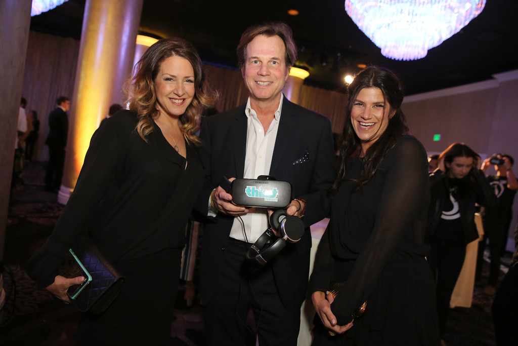 . BEVERLY HILLS, CA - JUNE 13: Actor Bill Paxton (center) and guests attend the 7th Annual Thirst Gala at The Beverly Hilton Hotel on June 13, 2016 in Beverly Hills, California.  (Photo by Rachel Murray/Getty Images for The Thirst Project)
