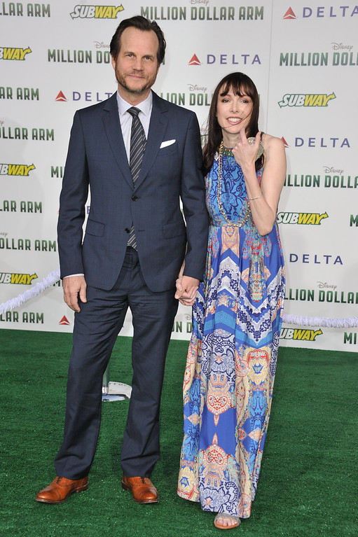 """. Bill Paxton, left, and Louise Newbury arrive at the world premiere of \""""Million Dollar Arm\"""" on Tuesday, May 6, 2014 in Los Angeles. (Photo by Richard Shotwell/Invision/AP)"""