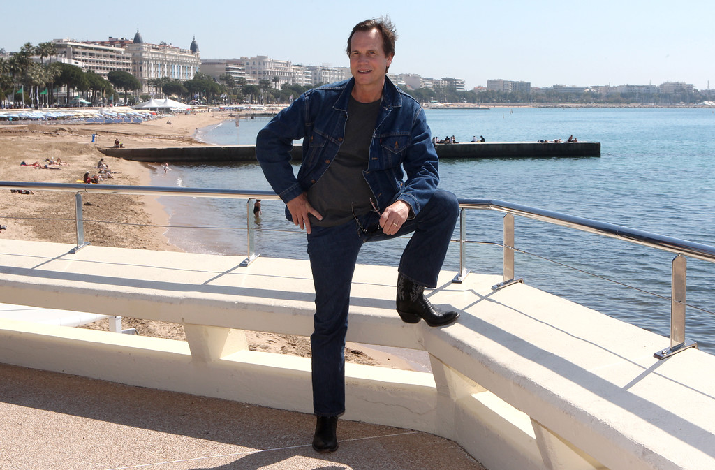 . American actor Bill Paxton poses for photographers during the MIPTV, International Television Programme Market, Monday, April 13, 2015, in Cannes, southern France.He presents the brand new, epic tv series �Texas Rising�.(AP Photo/Lionel Cironneau)