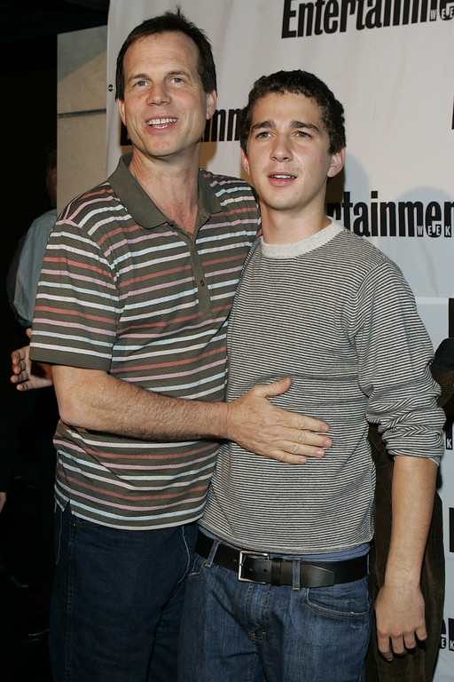 . Bill Paxton, left, and Shia LaBeouf arrive at the Entertainment Weekly and Endeavor party  in Toronto, Sunday, Sept. 11, 2005. (AP Photo/Carolyn Kaster)