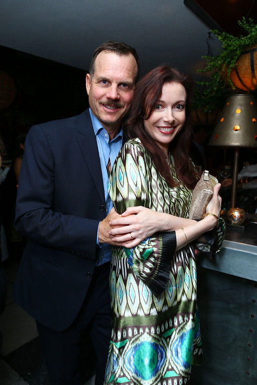 . WEST HOLLYWOOD, CA - SEPTEMBER 22:  Bill Paxton and wife Louise Newbury at HISTORY Pre-EMMY Party held Soho House on September 22, 2012 in West Hollywood, California.  (Photo by Eric Charbonneau/Invision/AP Images)