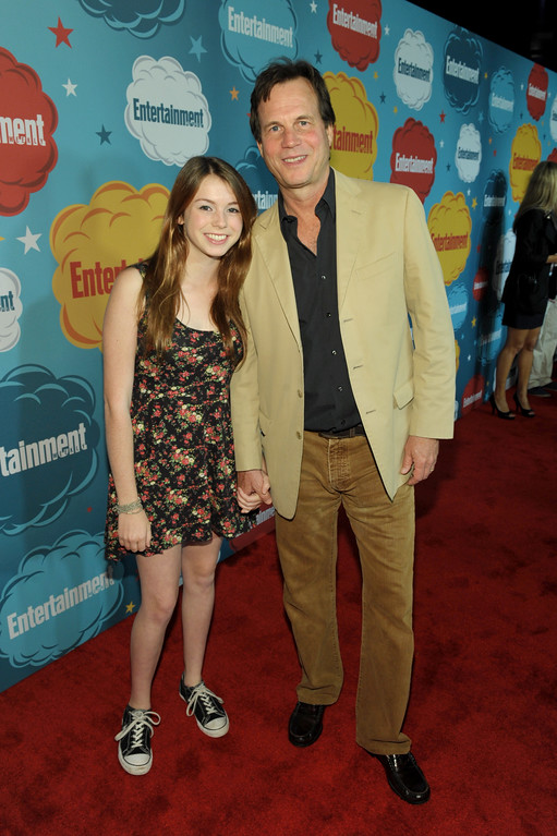 . Actor Bill Paxton, right, and Lydia Paxton attend Entertainment Weekly\'s Comic-Con Celebration at FLOAT at the Hard Rock Hotel on Saturday, July 20, 2013, in San Diego. (Photo by John Shearer/Invision for Entertainment Weekly/AP Images)