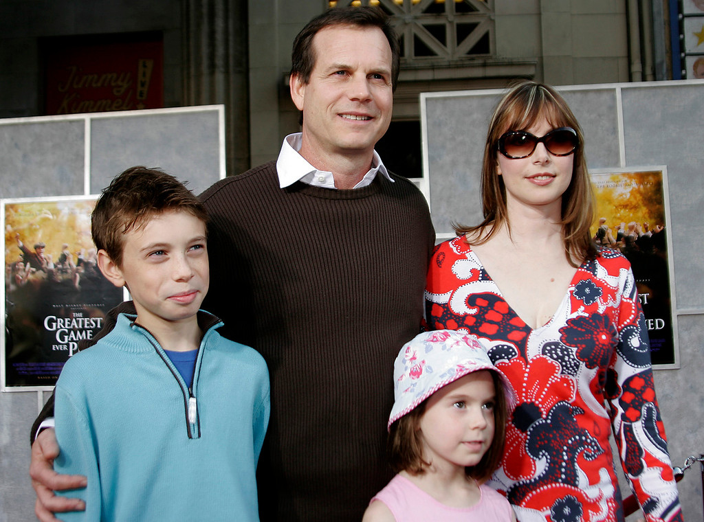 . Director Bill Paxton and his family arrives at the Premiere The Greatest Game Ever Played in the Hollywood section of Los Angeles, Calif., Sunday, Sept. 25, 2005.  (AP Photo/Connie Aramaki)