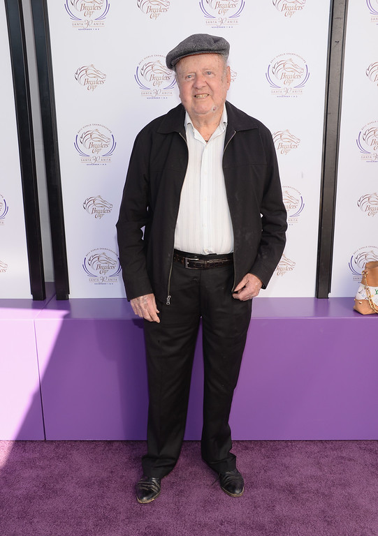 """. Dick Van Patten attends the 30th Annual Breeders\' Cup \""""Songs In The Saddle: The Infield Music Fest\"""" at Santa Anita Park on November 2, 2013 in Arcadia, California.  (Photo by Jason Kempin/Getty Images)"""