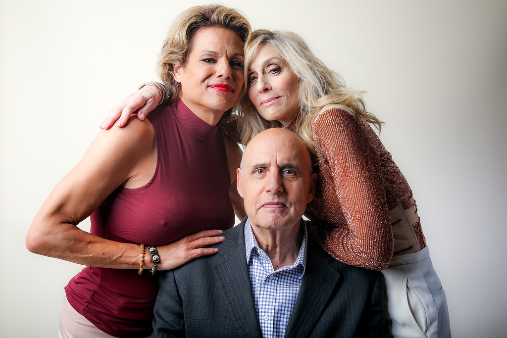 """. Alexandra Billings, from left, Jeffrey Tambor and Judith Light, cast members in the Amazon series \""""Transparent,\"""" pose for a portrait during the 2016 Television Critics Association Summer Press Tour at the Beverly Hilton on Sunday, Aug. 7, 2016, in Beverly Hills, Calif. (Photo by Rich Fury/Invision/AP)"""