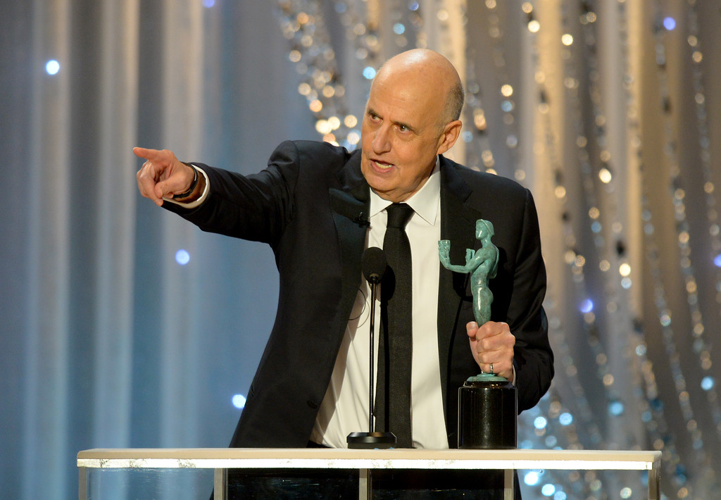 . Actor Jeffrey Tambor accepts Outstanding Performance by a Male Actor in a Comedy Series award for Transparent onstage during the 22nd Annual Screen Actors Guild Awards on January 30, 2016.(David Crane/Los Angeles Daily News)