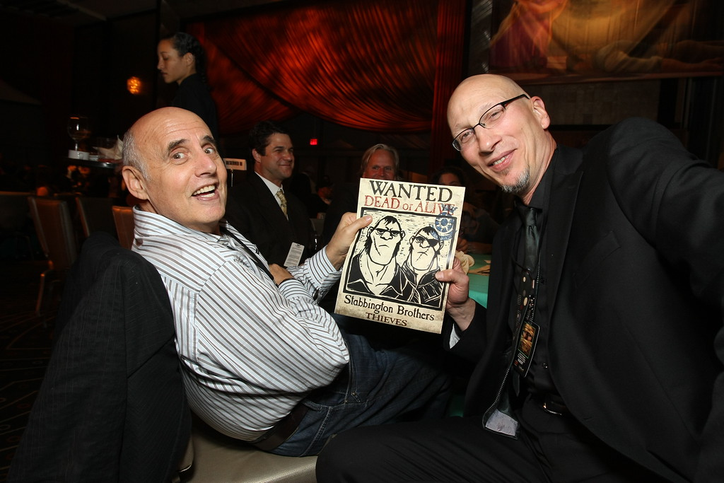 """. HOLLYWOOD - NOVEMBER 14: Jeffrey Tambor and Producer Roy Conli at Disney\'s \""""TANGLED\"""" World Premiere at the El Capitan Theatre on November 14, 2010 in Hollywood, California.  (Photo by Eric Charbonneau/Invision/AP Images)"""