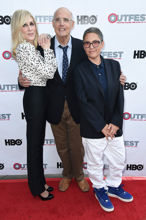 """. Judith Light, from left, Jeffrey Tambor and Jill Soloway attend 2017 Outfest Film Festival - \""""Transparent\"""" Season 4 at the Directors Guild of America on Saturday, July 15, 2017, in Los Angeles. (Photo by Richard Shotwell/Invision/AP)"""