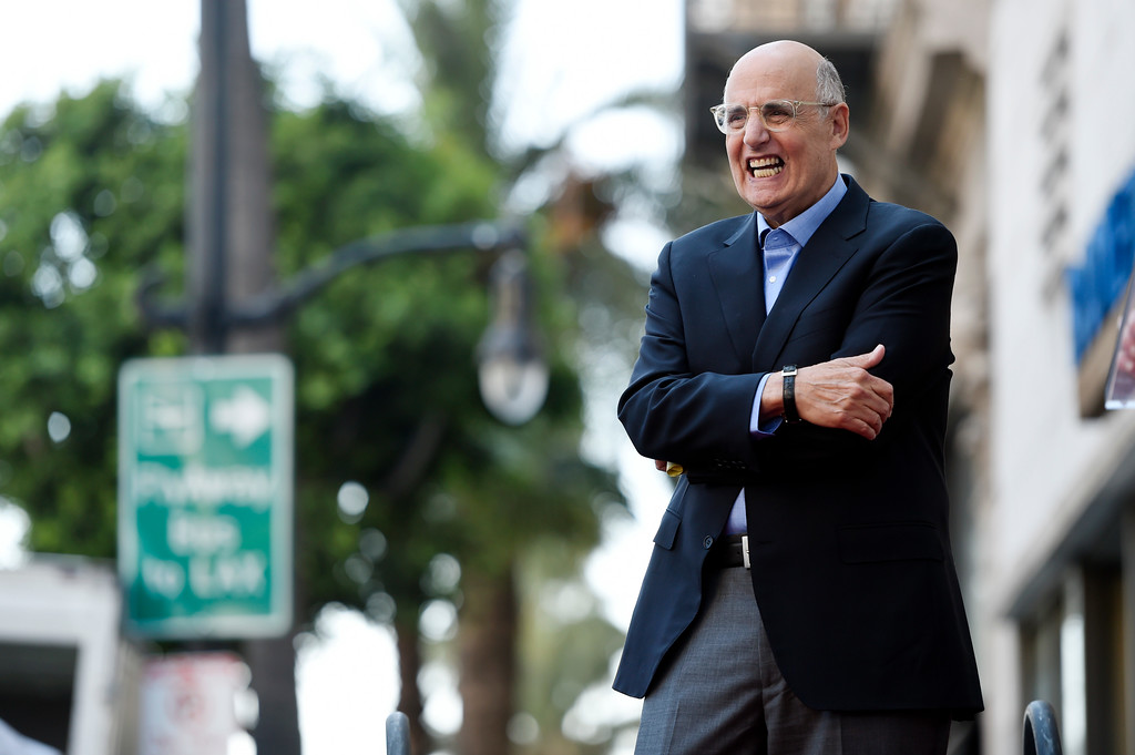 . Actor Jeffrey Tambor looks on from the stage during a ceremony to award him a star on the Hollywood Walk of Fame on Tuesday, Aug. 8, 2017, in Los Angeles. (Photo by Chris Pizzello/Invision/AP)