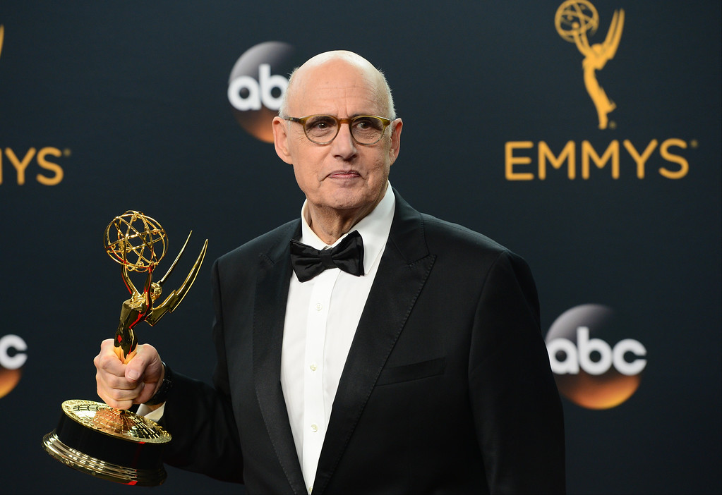 . Jeffrey Tambor who won the Emmy award for Outstanding Lead Actor in a Comedy Series, poses backstage at the 68th Annual Emmy Awards at the Microsoft Theater in Los Angeles, California on Sunday, September 18, 2016. (Photo by Michael Owen Baker, Los Angeles Daily News/SCNG)