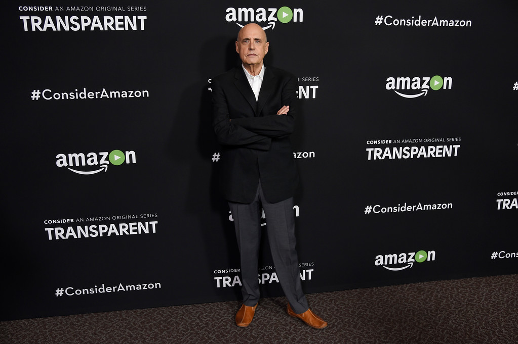 """. Jeffrey Tambor, a cast member in the Amazon original series \""""Transparent,\"""" poses at an Emmy For Your Consideration screening of the show at the Directors Guild of America on Thursday, May 5, 2016, in Los Angeles. (Photo by Chris Pizzello/Invision/AP)"""