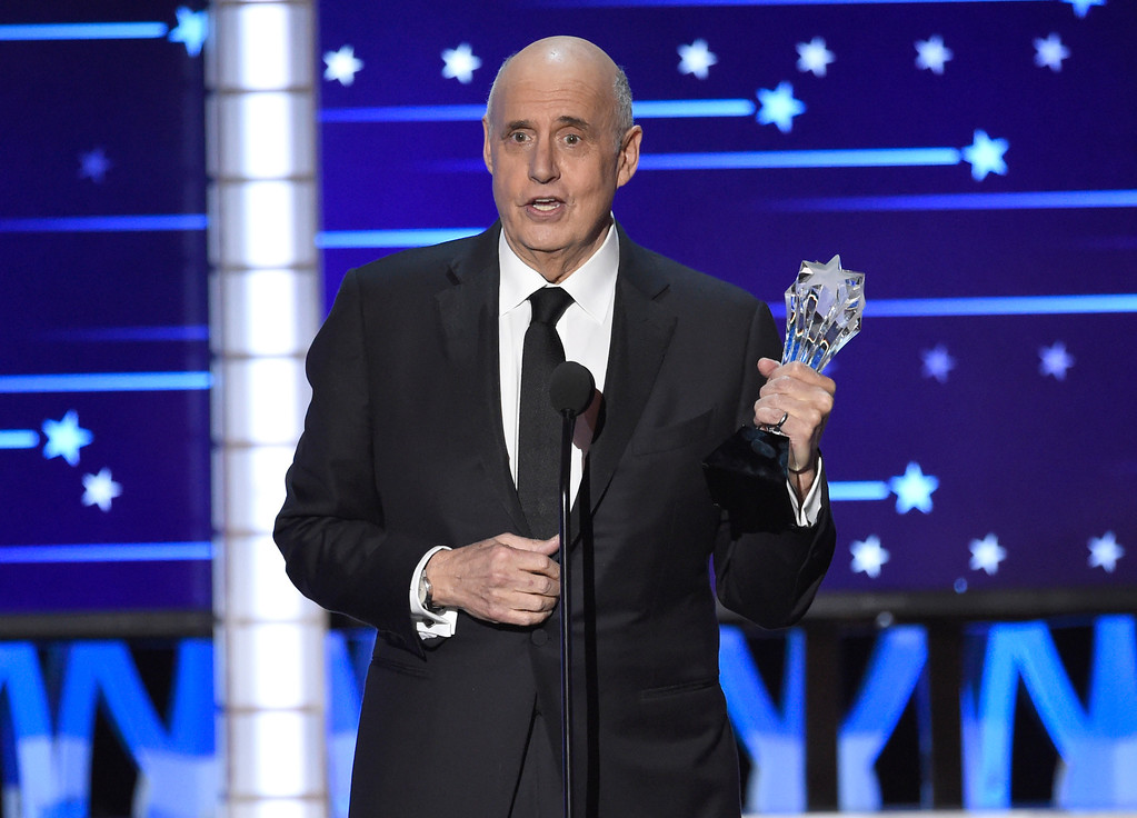 . Jeffrey Tambor accepts the award for best actor in a comedy series for �Transparent�  at the 21st annual Critics\' Choice Awards at the Barker Hangar on Sunday, Jan. 17, 2016, in Santa Monica, Calif. (Photo by Chris Pizzello/Invision/AP)