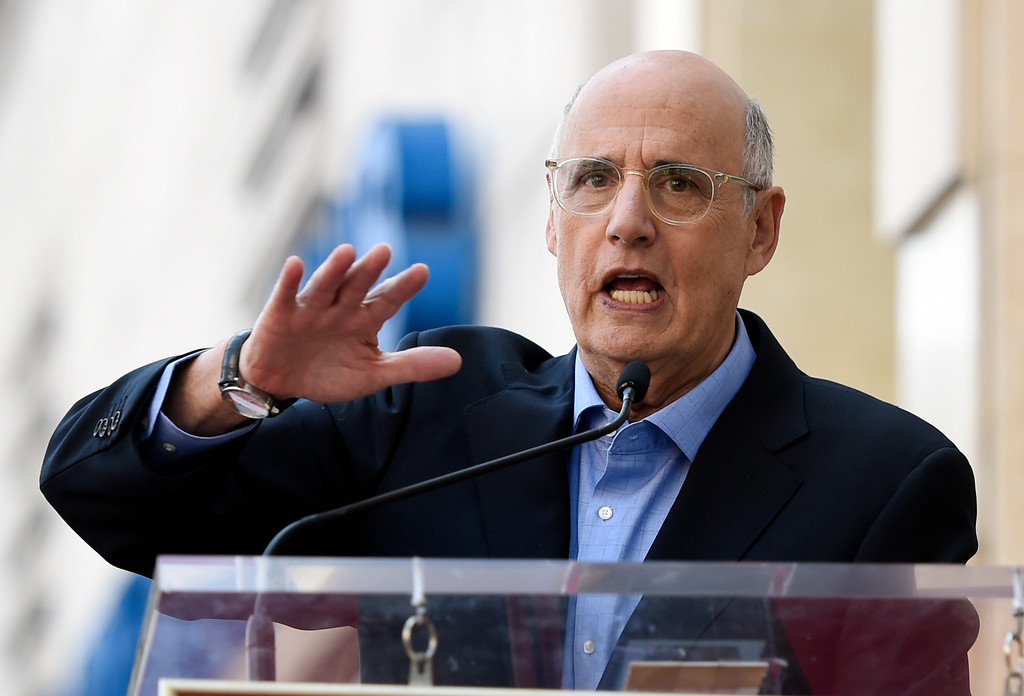 . Actor Jeffrey Tambor addresses the crowd during a ceremomy to award him a star on the Hollywood Walk of Fame on Tuesday, Aug. 8, 2017, in Los Angeles. (Photo by Chris Pizzello/Invision/AP)