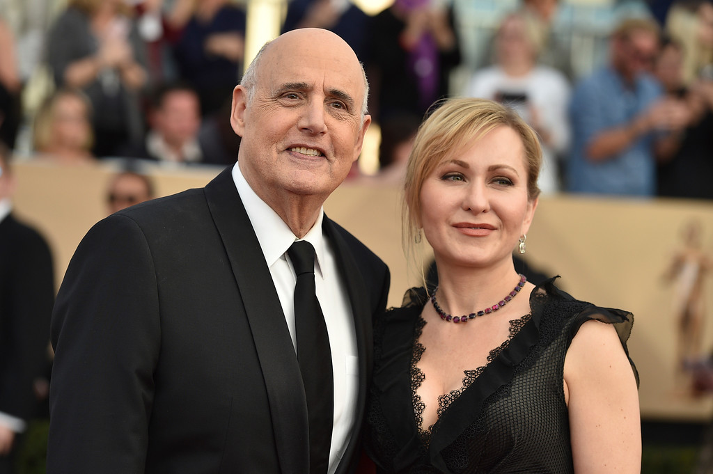 . Jeffrey Tambor, left, and Kasia Ostlun arrive at the 23rd annual Screen Actors Guild Awards at the Shrine Auditorium & Expo Hall on Sunday, Jan. 29, 2017, in Los Angeles. (Photo by Jordan Strauss/Invision/AP)