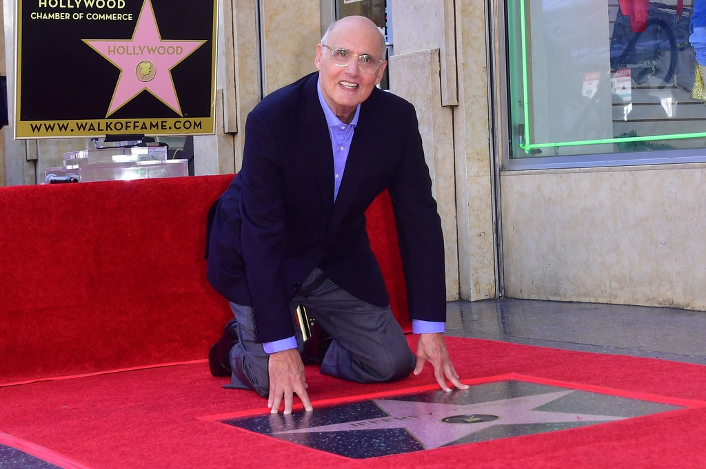 . Actor Jeffrey Tambor poses on his Hollywood walk of fame star on August 8, 2017, in Hollywood, California, where he was the recipient of the 2,617th star in the category of television.  (FREDERIC J. BROWN/AFP/Getty Images)