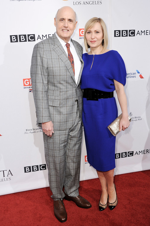 . Jeffrey Tambor and Kasia Ostlun attends the 2017 BAFTA Los Angeles Awards Season Tea Party held at Four Seasons Hotel on Saturday, Jan. 7, 2017, in Los Angeles. (Photo by Richard Shotwell/Invision/AP)