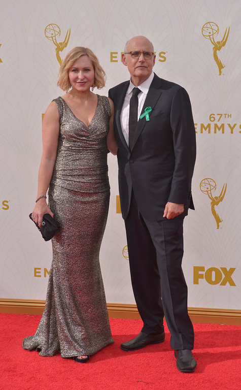 . Actor Jeffrey Tambor and Kasia Ostlun arrives at the 67th Annual Emmy Awards on Sunday, Sept. 20, 2015 at the Microsoft Theater in Los Angeles, California. (Photo by John McCoy, Los Angeles Daily News/SCNG)