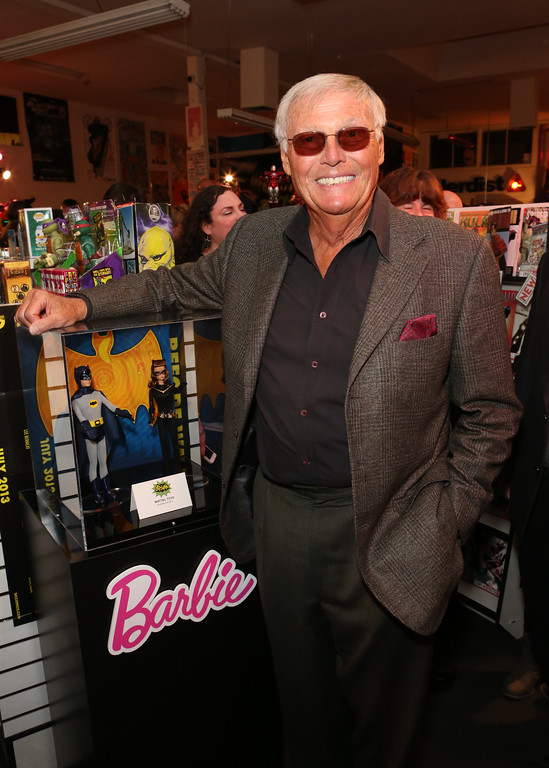 . Adam West shops Warner Bros. Consumer Products and Junk Food�s exclusive Batman Classic TV Series-inspired product line at Meltdown Comics on Thursday, March 21, 2013 in Hollywood, CA.   (Photo by Casey Rodgers/Invision for Warner Bros./AP Images)