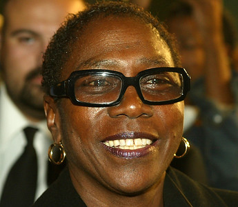 In this November 4, 2003 file photo, producer Afeni Shakur attends the film premiere of 'Tupac Resurrection' at the Cinerama Dome Theater in Hollywood, California. Afeni Shakur has died. She was 69 years old. The Marin County, California, Sheriff's Department confirmed her death. (Photo by Kevin Winter/Getty Images)
