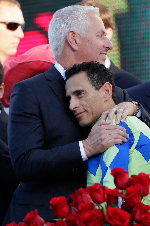 . LOUISVILLE, KY - MAY 06:  Trainer Todd Pletcher celebrates with jockey John Velazquez after Always Dreaming won the 143rd running of the Kentucky Derby at Churchill Downs on May 6, 2017 in Louisville, Kentucky.  (Photo by Jamie Squire/Getty Images)