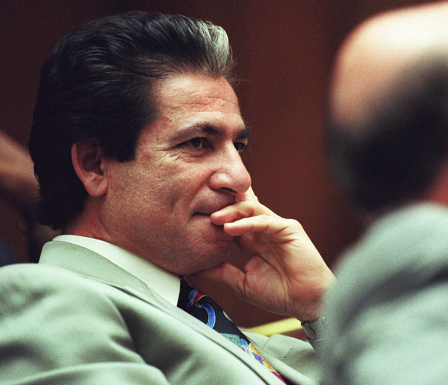 . Defense attorney for O.J. Simpson, Robert Kardashian sits in a court in Los Angeles Friday, June 9, 1995.    (AP Photo/Kevork Djansezian, Pool)