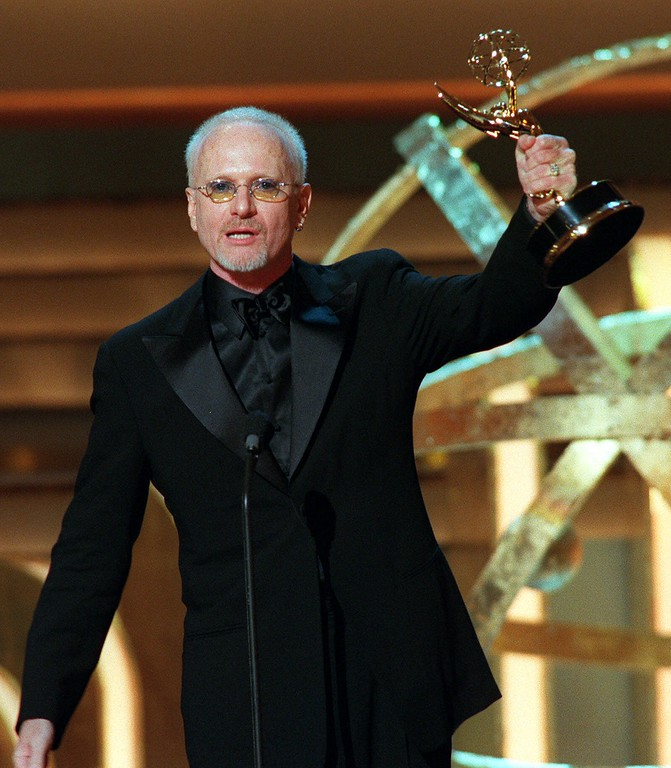 ". Anthony Geary, who plays Luke Spencer in ""General Hospital,\"" displays the Daytime Emmy Award he received for Outstanding Lead Actor in a Drama Series at New York\'s Radio City Music Hall, Friday, May 19, 2000.  (AP Photo/Stuart Ramson)"