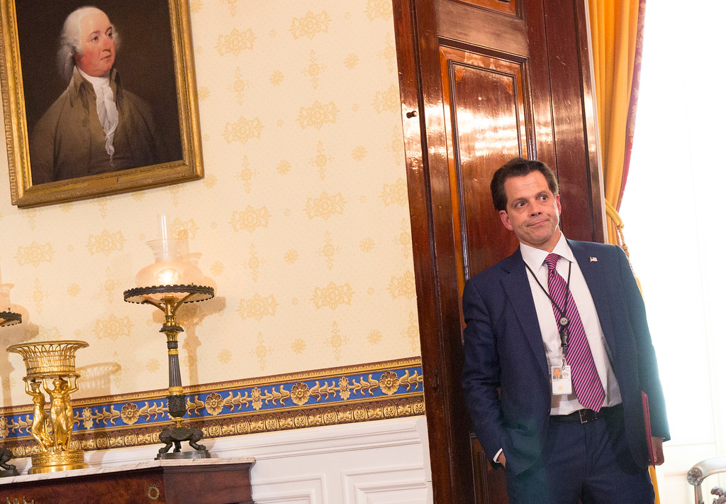 . White House Communications Director Anthony Scaramucci is seen before the start of a health care related event at The White House on July 24, 2017 in Washington, DC. (Photo by Chris Kleponis - Pool/Getty Images)