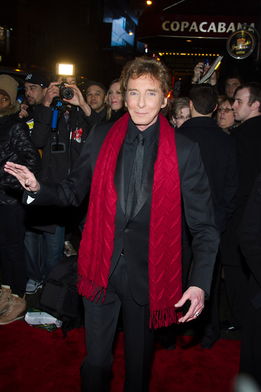 ". Barry Manilow arrives at Copacabana for the opening night after party for ""Manilow on Broadway\"" on Tuesday, Jan. 29, 2013 in New York. (Photo by Charles Sykes/Invision/AP)"