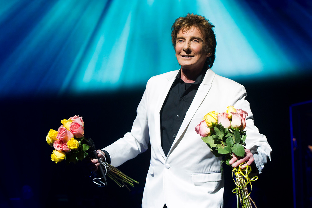 ". Barry Manilow appears at the opening night curtain call for""Manilow on Broadway\"" on Tuesday, Jan. 29, 2013 in New York. (Photo by Charles Sykes/Invision/AP)"