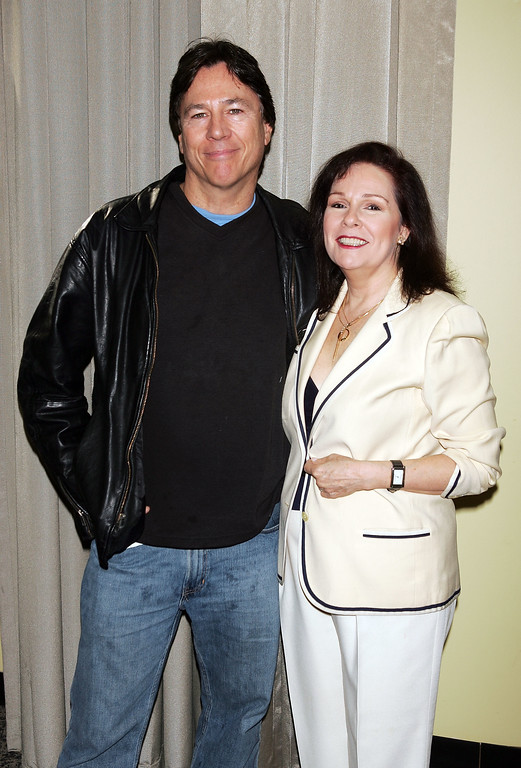 . NEW YORK - NOVEMBER 18:  Actress Karen Lynn Gorney and actor Richard Hatch pose for a photo at the 10th Annual Big Apple National Comic Book, Toy & Sci-Fi Expo at Penn Plaza Pavillion November 18, 2005 in New York City.  (Photo by Scott Gries/Getty Images)