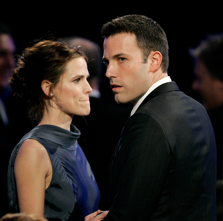 . Jennifer Garner, left, and Ben Affleck during the 12th annual Critics\' Choice Awards on Friday, Jan. 12, 2007 in Santa Monica, Calif. (AP Photo/Kevork Djansezian)