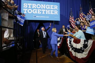 Campaign 2016 Clinton Sanders