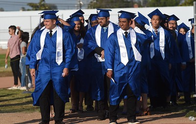 North Torrance graduates during the North Torrance High School Commencement ceremony at North. Torrance Calif., Wednesday, June ,22, 2016.            (Photo by Stephen Carr / Daily Breeze)